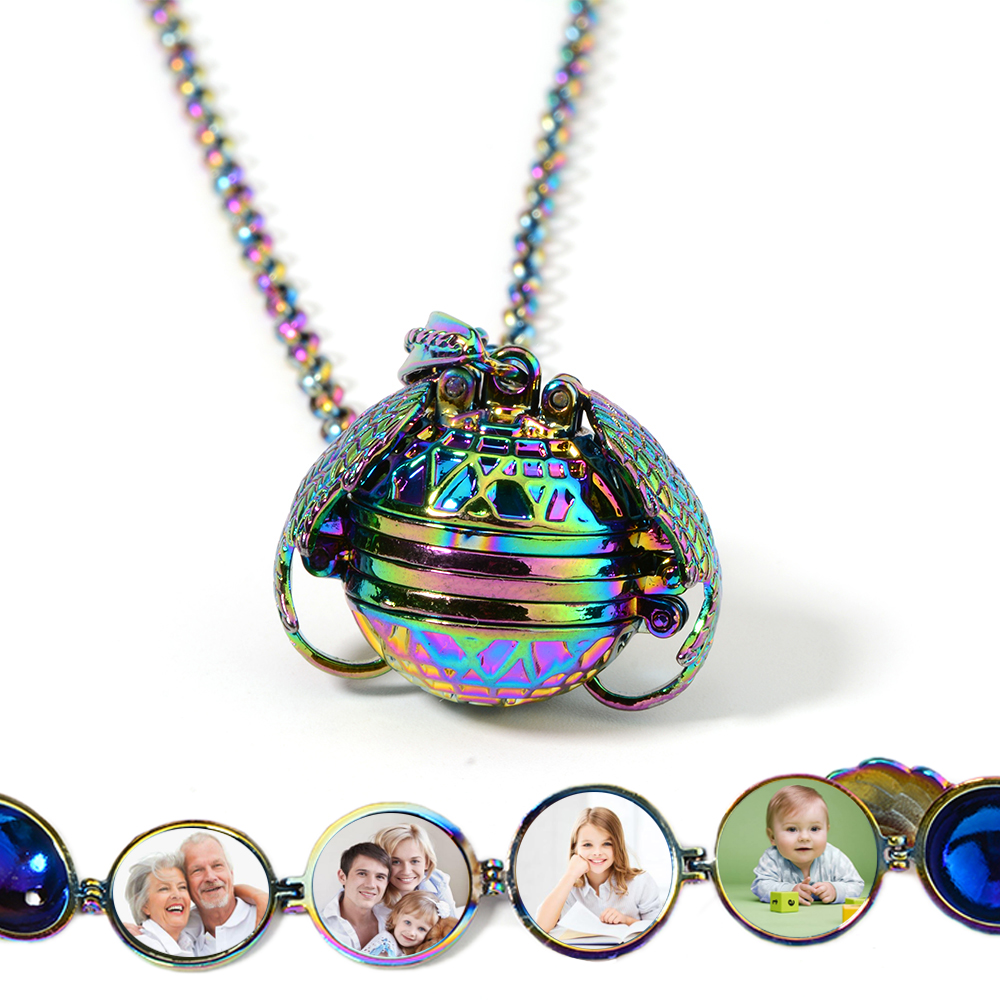 Expanding Photo Floating Locket Necklace Pendant for Women Men Angel Wings Gift Jewelry Chain Fashion Album Box Necklaces in Pendant Necklaces from Jewelry Accessories