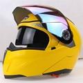 Profissional marca capacete de moto Virar Para Cima do Capacete Da Motocicleta JIEKAI capacete lente Dupla brisa pode ser escolher