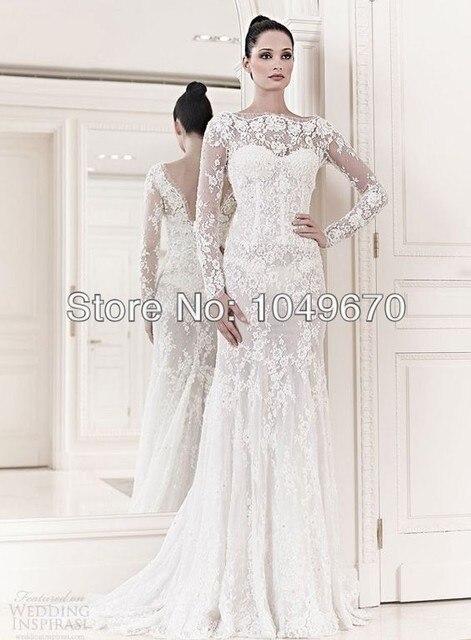 Aliexpress.com : Buy Elegant 2016 Vestido De Noiva Long Sleeve ...