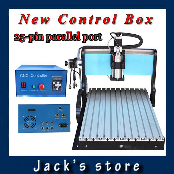 25-pin parallel port!!! 6040Z-S++, 800W Spindle +1.5kw VFD CNC6040 CNC Router water-cooling Metal engraving machiney cnc machine usb port 3020z s cnc3020 800w spindle 1 5kw vfd cnc router water cooling metal engraving machiney cnc machine cnc 3020