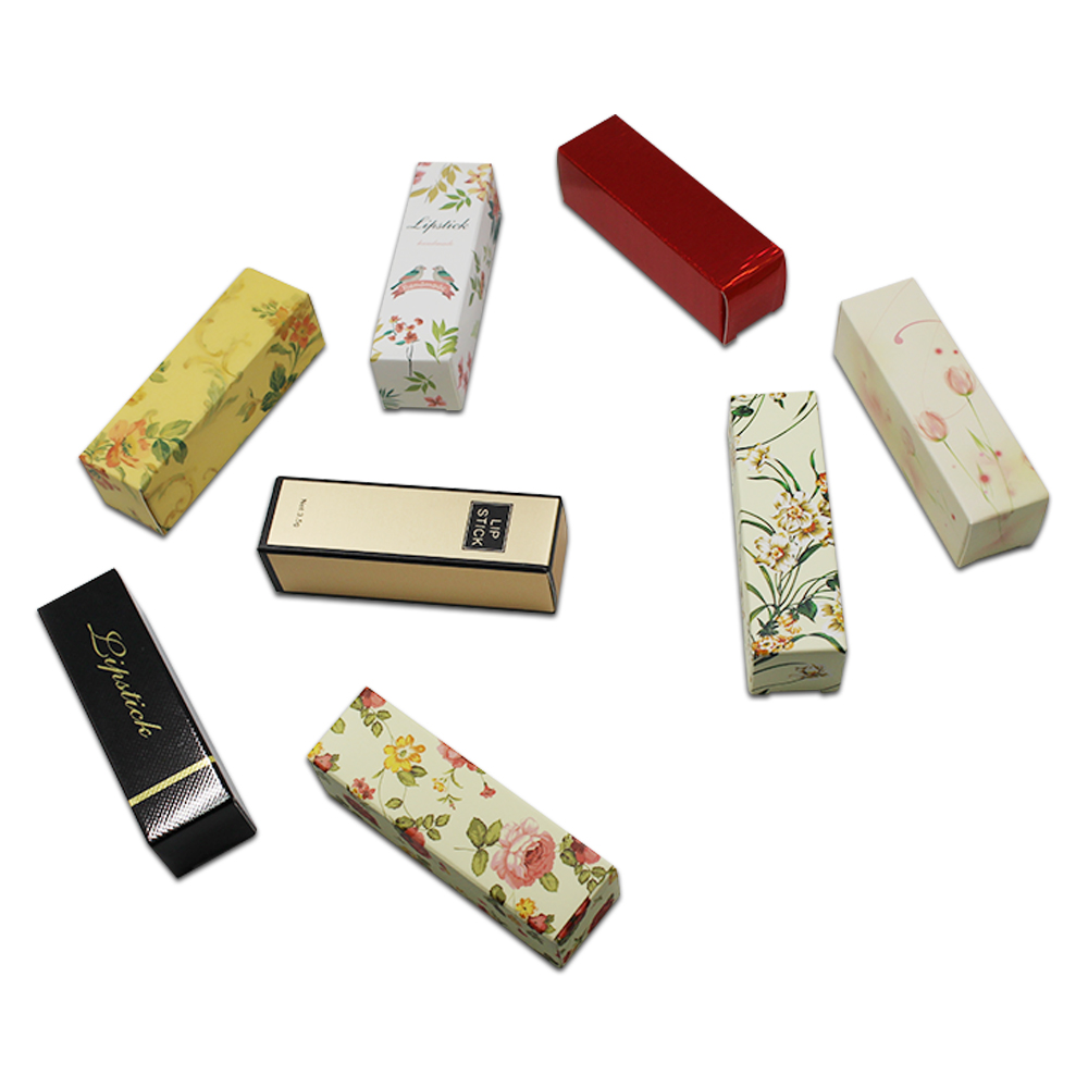 150Pcs/Lot 1x1x3.3 Many Color Kraft Paper Foldable Box for lipstick Essential oil Cosmet ...