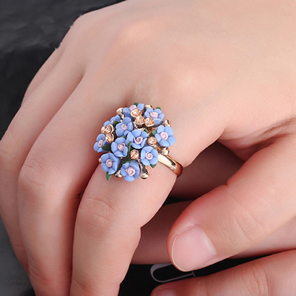 AINAMEISI 2017 Wholesale Jewelry Shiny Multi Color Flower Engagement ...