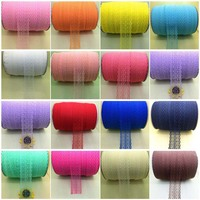 Wholesale! Beautiful~ 300Yard Handicrafts Embroidered Net Lace Trim Ribbon Bridal Crafts Color choice