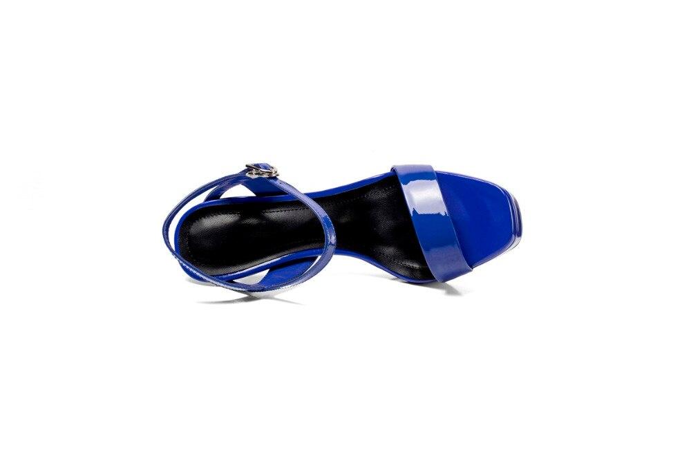 Hauts Les Professionnelles D'été apricot Une Avec Dames Maturité Sexy Derniers Femmes Modèles Black blue Cuir Abay Sandales Talons Belles Style En Mode À De xXnwCqS