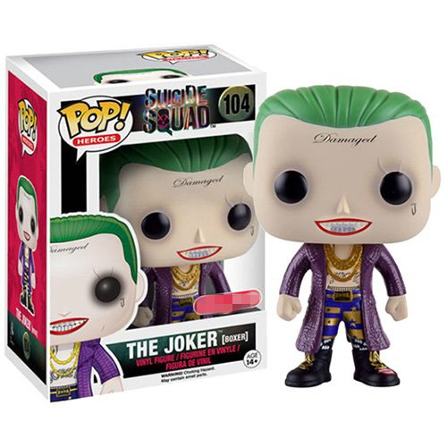 Exclusive Funko pop Official Suicide Squad - The Joker Boxer Vinyl Figure Collectible Model Toy with Original Box  exclusive funko pop official street fighter special attack ryu vinyl action figure collectible model toy with original box