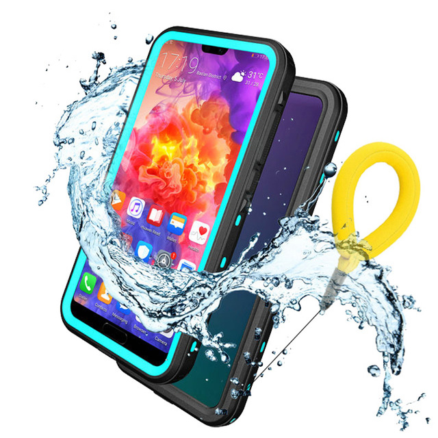 best website 4a2cc c8b88 US $14.13 15% OFF|Huawei P20 Pro Waterproof Case IP68 Funda Huawei P20 Lite  Case 360 Protector P20PRO Water Proof Cover P20Lite PC Underwater Case-in  ...