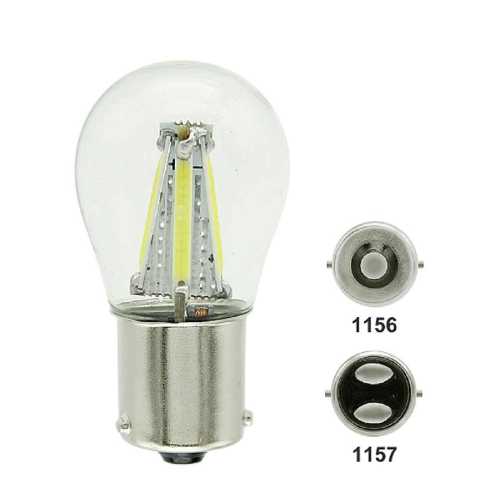 1pc ANBLUB P21W BA15S 1156 BAY15D 1157 Auto Car COB LED Filament Turning Light Tail Brake Bulb Parking Lamp 12V DRL Lights