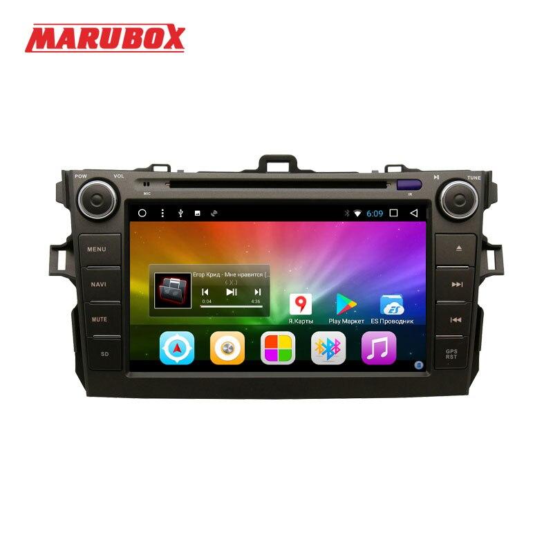 MARUBOX 8A105DT8 Car Multimedia Player for Toyota corolla 2007 - 2011,8 Core, Android 8.0,DVD,GPS,Radio, 2GB RAM, 32GB ROM marubox 7a701dt8 car multimedia player universal for toyota 8 core android 8 1 radio chips tef6686 2gb ram 32g rom gps usb