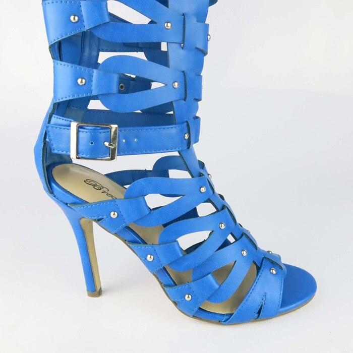402b7bbf50ef New Desigual Brand Womens Strappy Roman Gladiator Buckle Knee High ...
