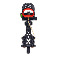 1 Pcs Adjustable Outdoor Sports Archery Accessories 5 Pin Compound Bow Sight Straight Type for Compound Bow Accessories