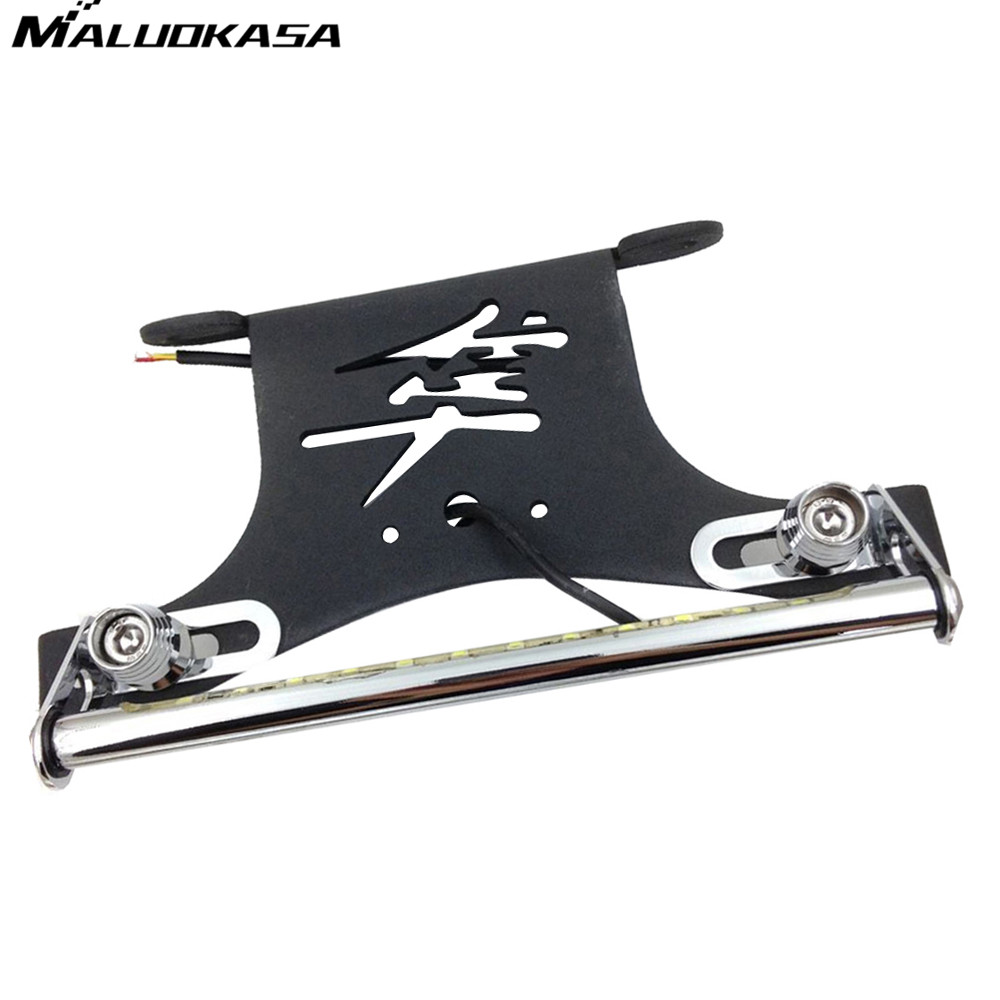 MALUOKASA Motorcycle LED Light Fender Eliminator Holder For 2008 2009 Suzuki GSX 1300R Hayabusa GSXR Motor License Plate Bracket maluokasa motorcycle fender eliminator tail tidy for suzuki hayabusa gsx1300r 2008 2009 motor license plate tail light bracket
