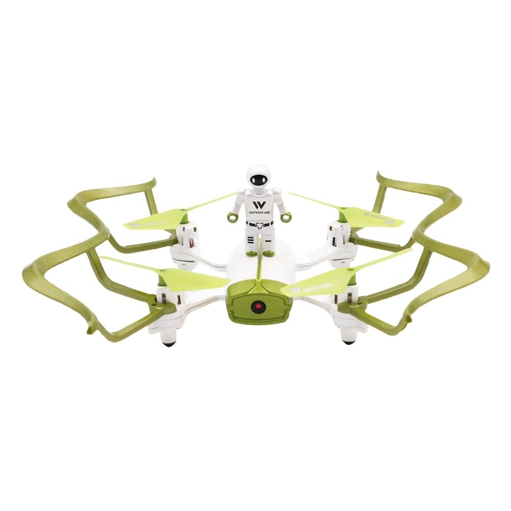 Attop W2 RC Mini Drone couleur vert et blanc quadrirotor Wifi FPV Selfie Drone Mode sans tête maintien d'altitude Gsensor Quadrocopter jouets