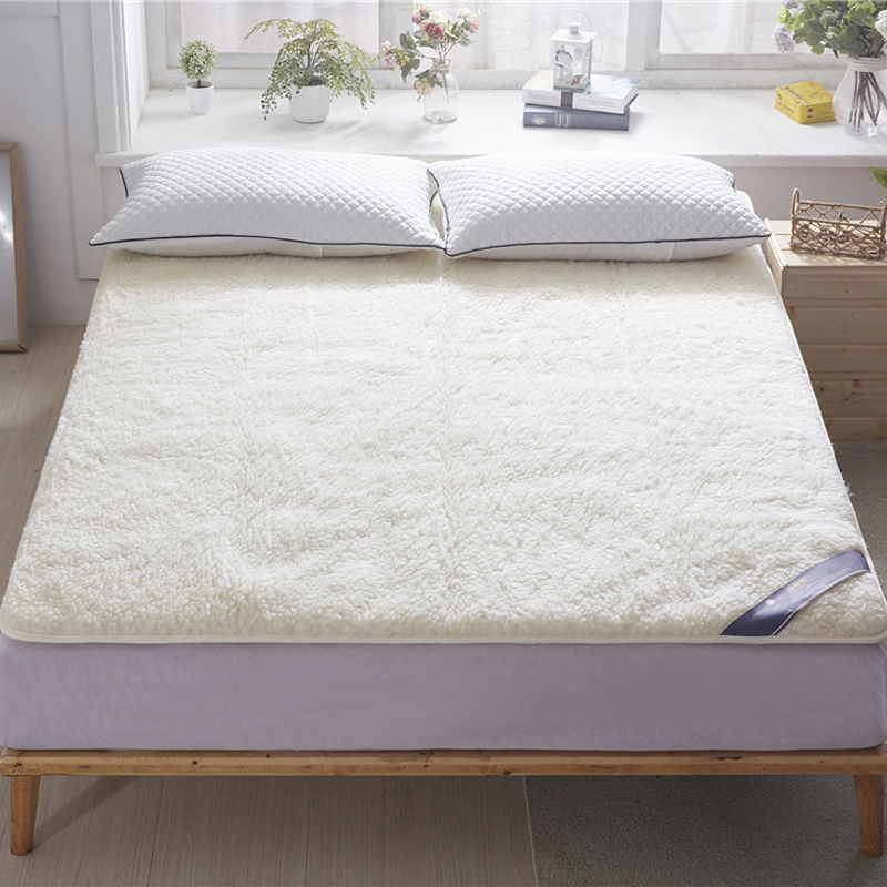 Svetanya White Wool Mattress thin and warm Bed Mat Single twin queen king size