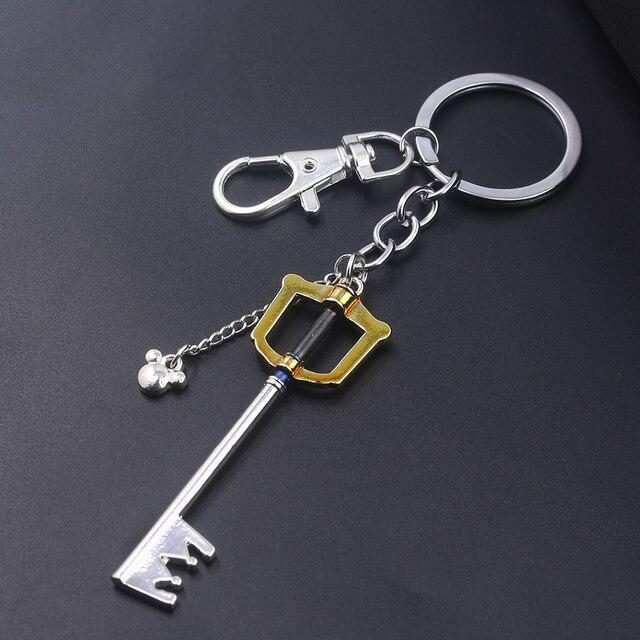 SG Hot Game Kingdom serca breloki Sora korona Roxas Keyblade Paopu owoce broń wisiorki brelok dla mężczyzn samochód biżuteria prezent