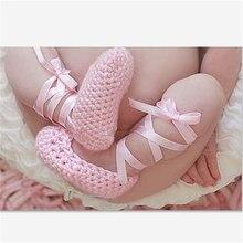 Dulce princesa de encaje de color rosa de ballet zapatos de baile zapatos de un solo zapatos de bebé de primavera y otoño