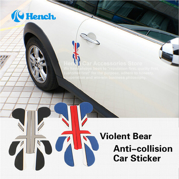 2018 Car Styling Car Door Protector Trims Stickers Door Side Edge Protection Guards For Violent Bear decal Universal Automobiles 2