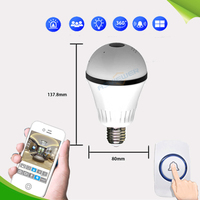 LED Light 960P Wireless Panoramic Home Security WiFi CCTV Fisheye Bulb Lamp IP Camera 360 Degree ONVIF Night Vision AS IPB203Y