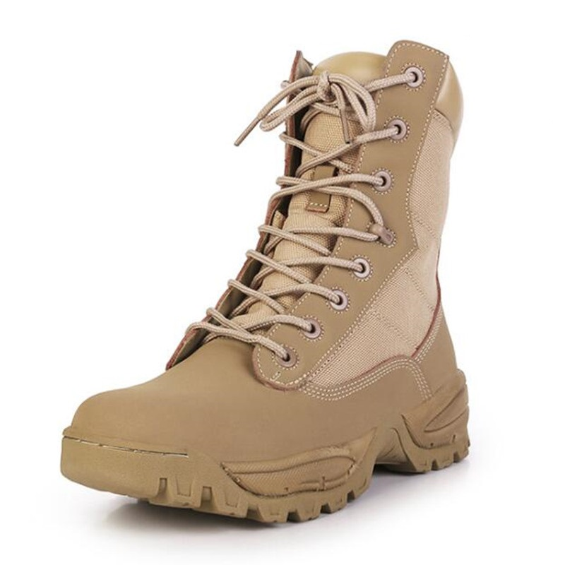 Men Military Shoes Army Boots Men Leather Shoes Breathable Male Special Forces Tactical Military Boots