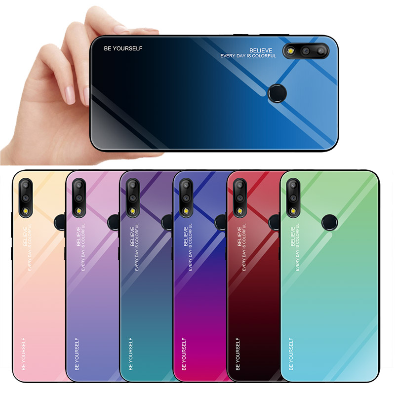 Gradient Tempered Glass Phone Case For ASUS Zenfone Max Pro M1 Zb601kl Zb602kl M2 Zb631kl Zb633kl Armor Case Cover Back Coque