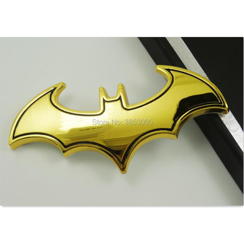Car Styling Metal Batman Badge Emblem Tail Decal FOR audi a3 8p romeo 147 ford mondeo <font><b>mk3</b></font> peugeot 208 renault captur <font><b>golf</b></font> mk5 image