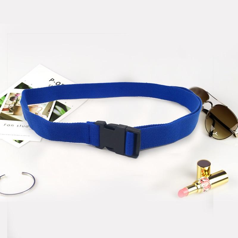 Женский ремень Харадзюку, длинный холщовый ремень Харадзюку, поясной ремень для женщин, сплошной цвет, ceinture femme cinture femme cinto feminino - Цвет: Blue
