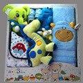 Hotsale Novo Design Do Presente Do Bebê Recém-nascido Conjunto de Roupas Conjunto de Roupas Infantis, meninos Roupas de Menina Dos Desenhos Animados Brinquedos Set, 100% Cutton12Pcs/set