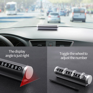 Image 5 - רכב זמני חניה כרטיס לסובב טלפון מספר צלחת אלומיניום Universal פרק עצירת רכב סטיילינג מוצרי אביזרי רכב