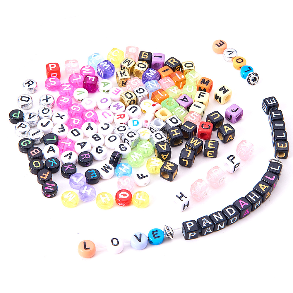 1box/set Acrylic Square Round Shape Style English Letter Number Alphabet Digital Loose Bead For DIY Bracelets & Necklaces 20cm deep wavy doll wigs sd ad 1 3 1 4 1 6 bjd doll diy hair for blyth bjd handmade doll wigs