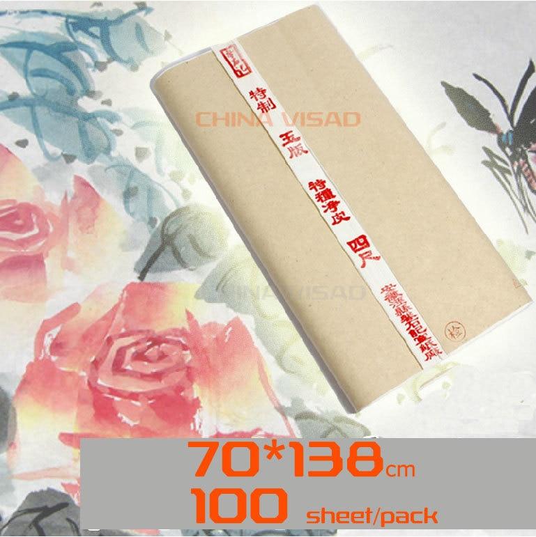 Chinois Xuan Paper.70 * 138cm. peinture à l'encre de peinture créative, calligraphie chinoise, épaissir le papier de riz-in Papier pour peinture from Fournitures scolaires et de bureau    1