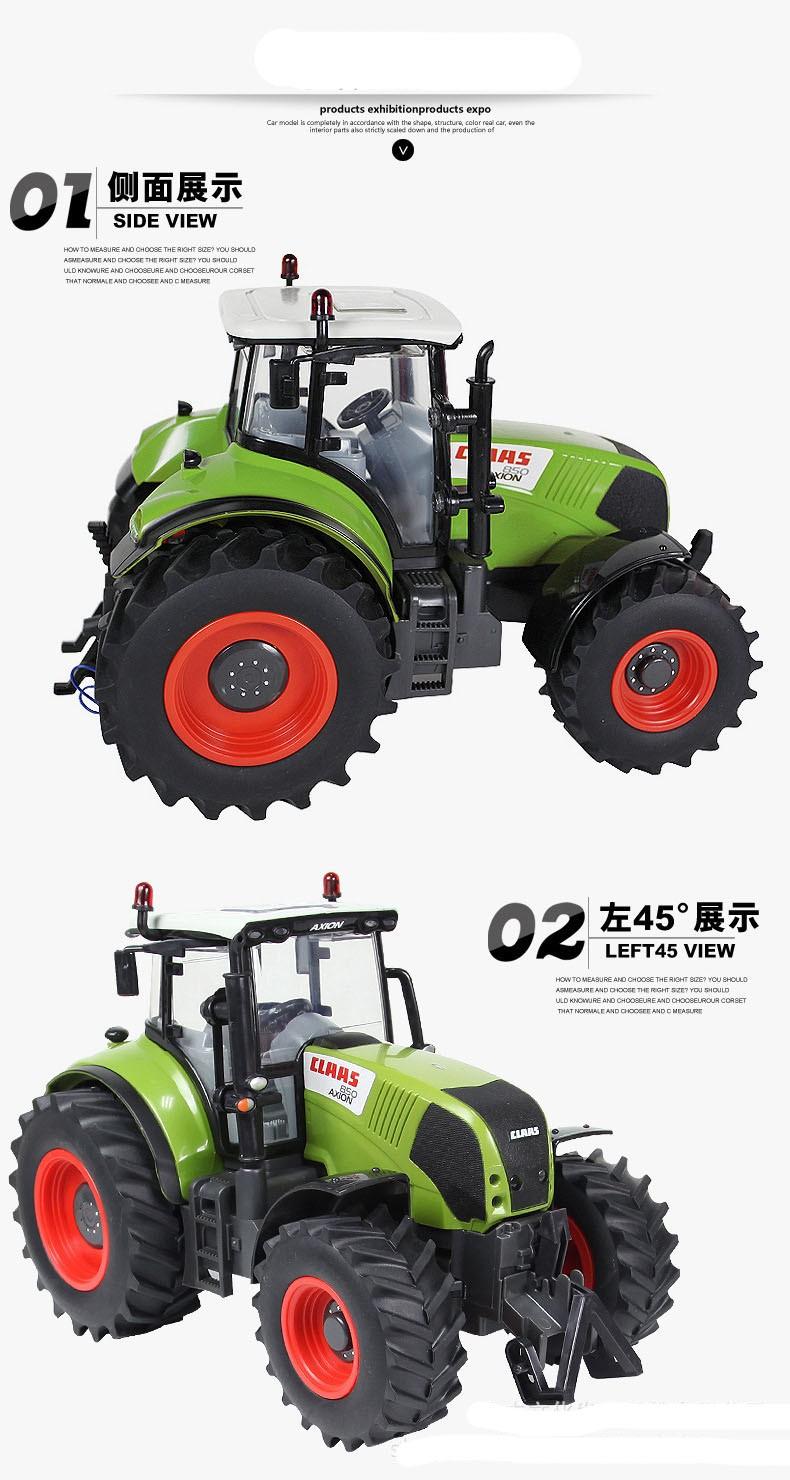 Hot Sale Voiture Telecommande Carrinho De Controle Remoto 1:16 Oversized Radio Remote Control Car Farmer Tractor Kids Toy 3