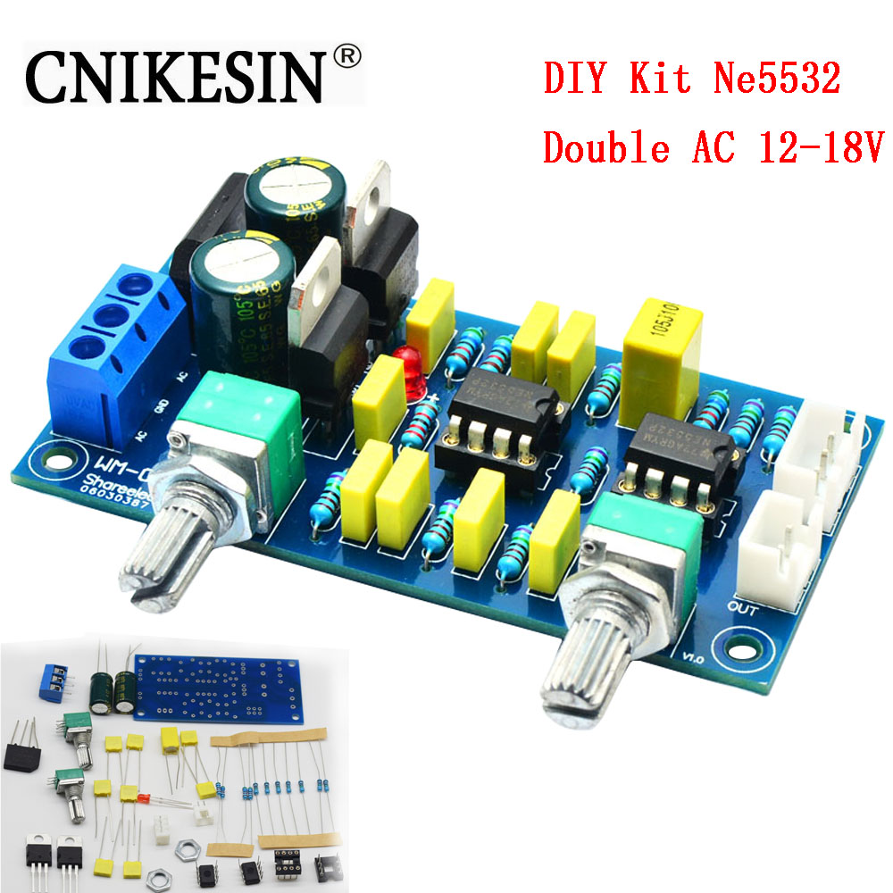 CNIKESIN DIY Kit Ne5532 Fever Low Pass Filter Front Panel Super Bass Sound Palette HI-FI Low Pass Circuit Board Tone Board Pream ...