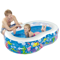 Inflatable Pool Outdoor Large Plastic Swimming Pools Figure 8 shape Baby Kid Pool Paddling Piscina Safety Portable Swimming Pool