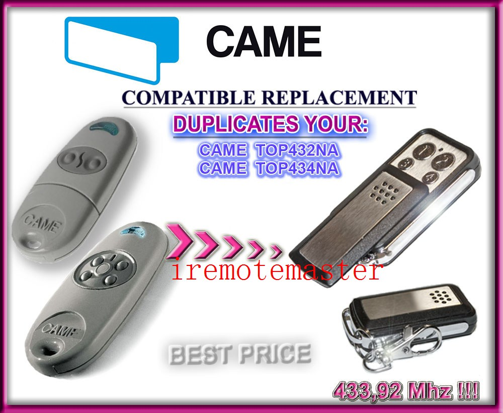 Copy CAME TOP 432NA Duplicator 433.92 mhz remote control Universal Garage Door Gate Fob Remote Cloning 433 mhz Transmitter 433 mhz rf 4channel remote control copy code grabber cloning electric gate duplicator key fob learning garage door came remote