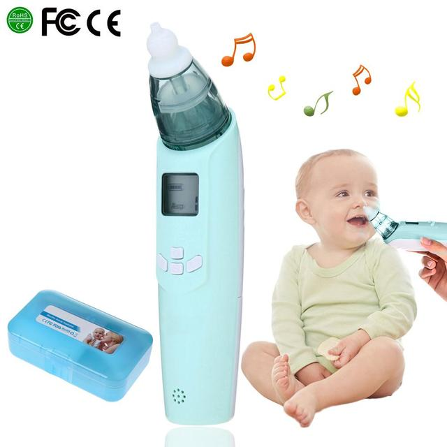 Baby Nasal Aspirator Electric Safe Hygienic Nose Cleaner Baby Care Nose Tip Oral Snot Sucker For Newborn Infant Toddler