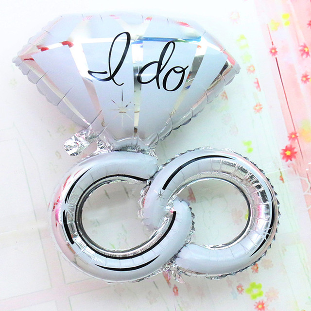 Large Size Gaint Double Ring Diamond Foil Balloons Wedding Party Decoration Valentine S Day Air