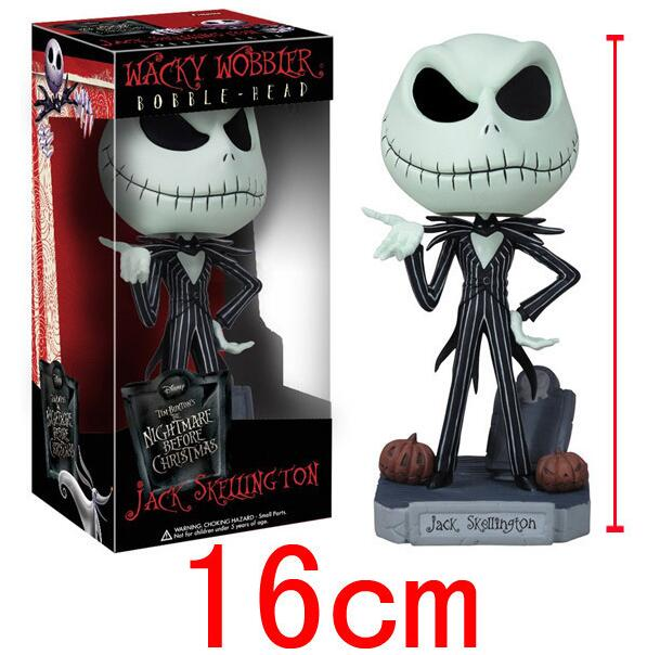 The Nightmare Before Christmas Halloween Town Pumpkin King Jack Wacky Wobbler Bobble Head Action Figure Collection Toy funko pop marvel loki 36 bobble head wacky wobbler pvc action figure collection toy doll 12cm fkg120