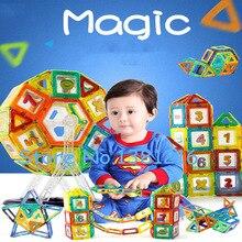 Mini 164 Pcs/ensemble Aimant Jeu Modèles et Jouet de Bâtiment En Plastique Designer Magnétique Blocs Éducatifs Briques Pour Enfants Cadeau De Noël