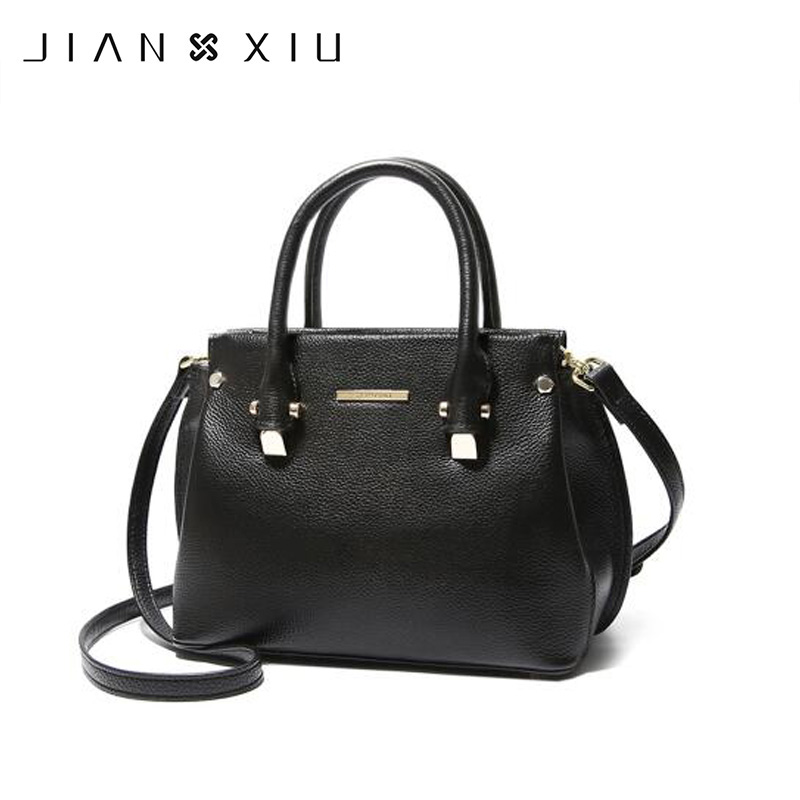 JIANXIU Brand Genuine Leather Bag Women Messenger Bags Female Handbags Lychee Texture Cowhide Shoulder Crossbody Bag