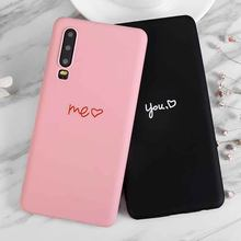 You Me love Heart Shape Lovers Soft Case For Samsung Galaxy Grand Prime Pro J7 Max Note 8 Z4 C7 J3 J5 Pro J7 A3 A5 A7 2017(China)