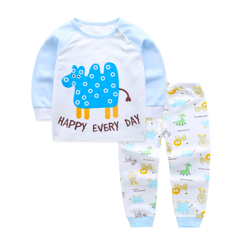 2pcs/set Spring Baby Girl Clothing Set Pajamas Cat Print Baby Sets Newborn Baby Boy Clothes Set Cotton Infantil Tops Pants Suit children s suit baby boy clothes set cotton long sleeve sets for newborn baby boys outfits baby girl clothing kids suits pajamas