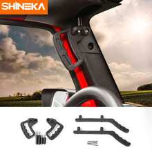 SHINEKA Metal Front Rear Hard Top Mount Hardtop Grab Handle Bar for Jeep wrangler JK 2007+ 4×4 Offroad