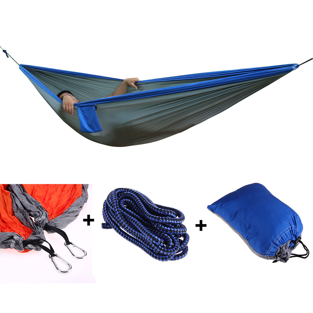 Garden Camping Outdoor Hammock Home Travel Hang Bed Adult Single Double Hunting Leisure Travel Hammocks 300x200CM Garden Camping Outdoor Hammock Home Travel Hang Bed Adult Single Double Hunting Leisure Travel Hammocks 300x200CM