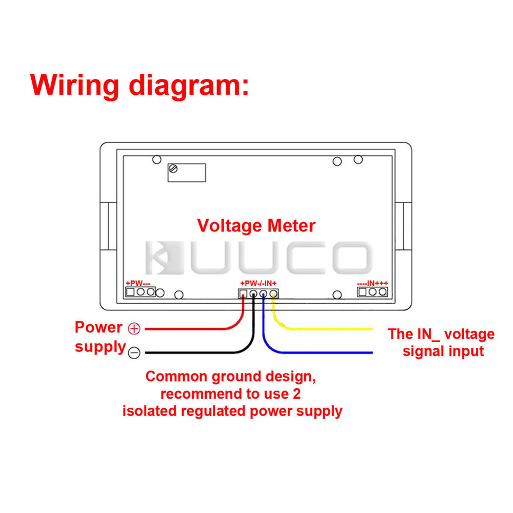 Ac Meter Wiring Diagram Library Parallax Power Converter 7345 Four Wires Digital Voltage 0 20v Blue Lcd Voltmeter Dc Rh Aliexpress Com