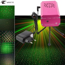 Mini LED Stage Light R&G Christmas Laser Projector Disco DJ Music Party Laser Pattern Lighting New Year Decoration Light