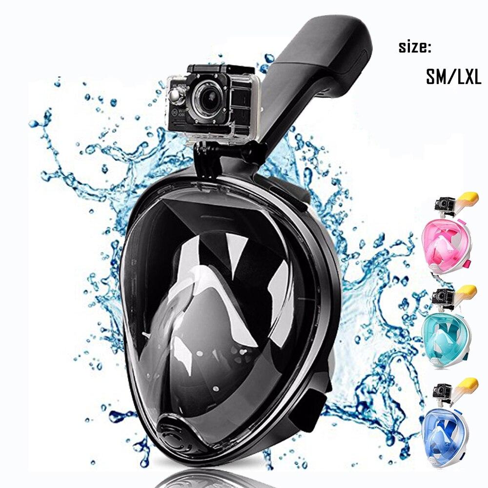 Volle Gesicht Schnorcheln Tauchen Maske Set Unterwasser Schwimmen Ausbildung Scuba Schwimmen Ausrüstung Schnorcheln Maske Für kind Erwachsene