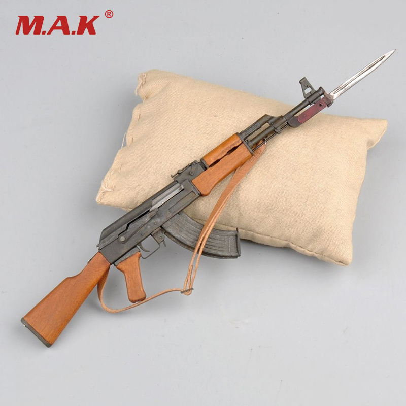 1/6 Scale Metal AK47 Model Kit With Bayonet for 12 inches Military Action Figure Accessories italeri model 1 24 scale military models 3862 iveco turbostar tricolore plastic model kit