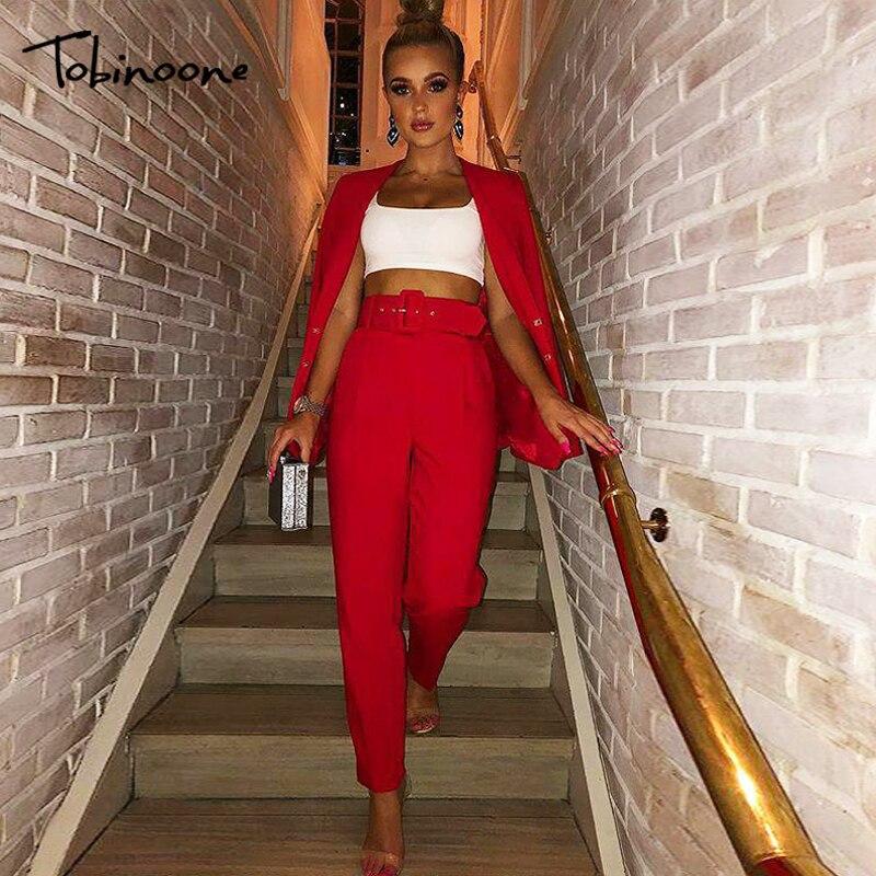 Tobinoone Solid High Waist Zipper Bodycon Pants Women 2019 Summer Fashion Skinny Pants Women Trousers Streetwear Casual Pants