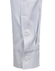 Image 5 - 2019 novo botão para baixo trabalho de escritório de negócios masculino preto 2xl gola em banda masculina ajuste fino manga longa camisas vestido