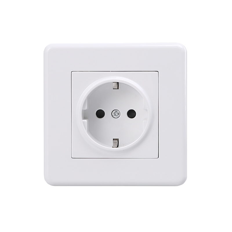 Best Quality German Electric Wall Outlet De Ac 250v Faceplate White Color Socket 86x86mm In Electrical Plug From Consumer Electronics On