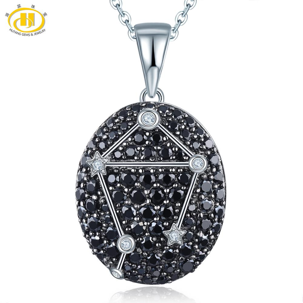 Hutang Libra Constellation Pendant Gemstone Black Spinel Solid 925 Sterling Silver Fine Jewelry 23th Sept Until 23th October NewHutang Libra Constellation Pendant Gemstone Black Spinel Solid 925 Sterling Silver Fine Jewelry 23th Sept Until 23th October New